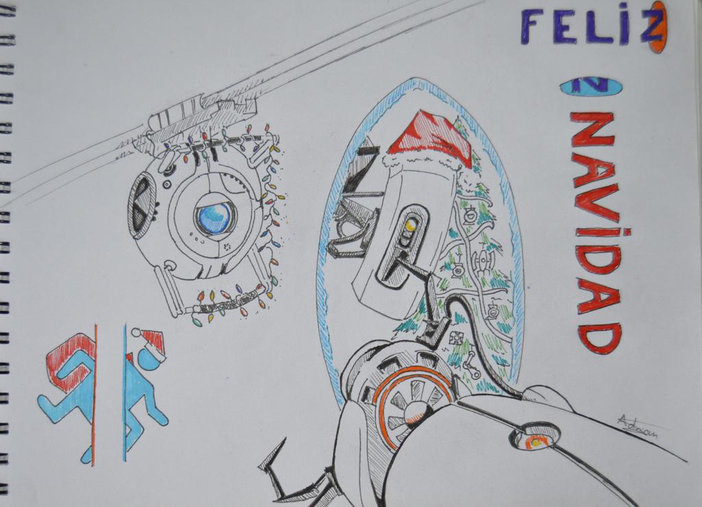 MerryXmas FanArt Portal2 by Bozakchidori