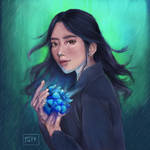 Blue light hydrangea