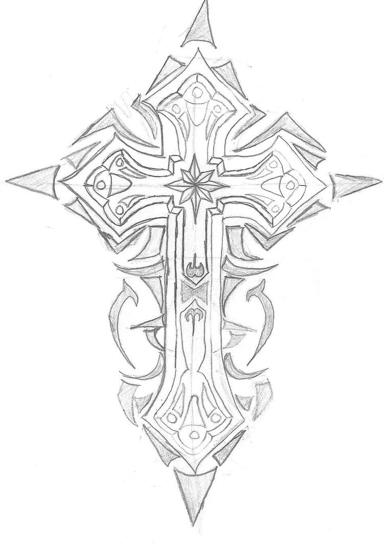 Tribal Cross by AnimeBoy1321