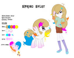 Spring Splat ref sheet- GIFT with updated info by Lalalover4everYT