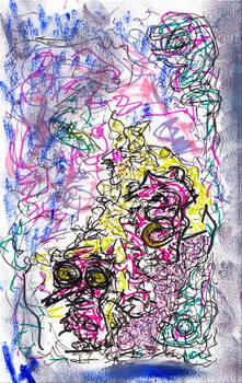 fzzy - mixed media abstract
