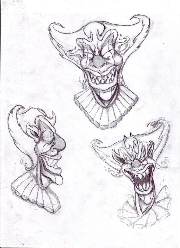 evil joker face drawings 50680 movieweb