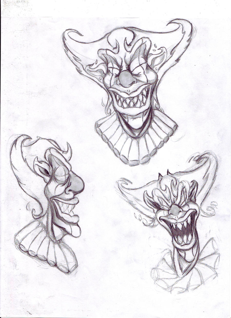 Scary Clown Face Cartoon Viewing Gallery