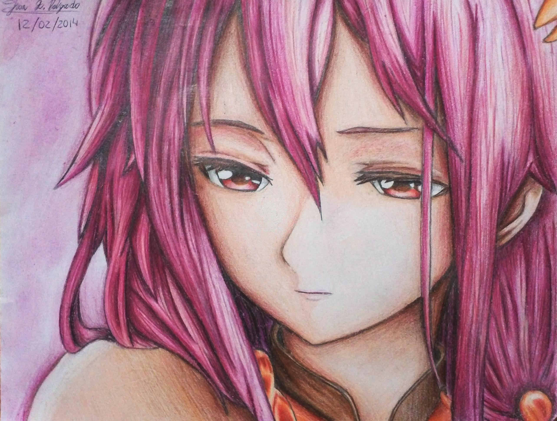 Inori Yuzuriha - Pink Aura by XReithyemX
