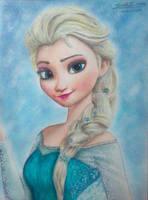 Elsa - Blue Snow by XReithyemX