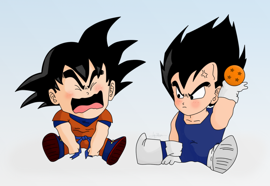 Baby goku and vegeta color by lazaer on deviantart - Dragon ball z baby broly ...