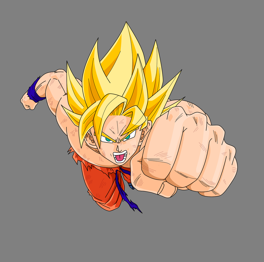 Dragon Ball Z - Goku SSJ by ~Lazaer on deviantART