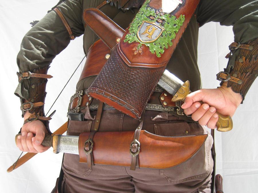 Leather work 94 set 4 by HamraBDG