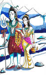 Shiva and Parvati by dante5396