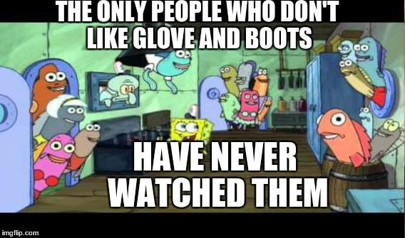 a spongebob glove and boots meme by pinkie900 on deviantart