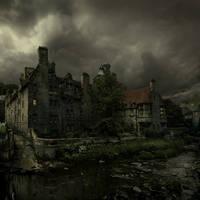 The Dean Village town