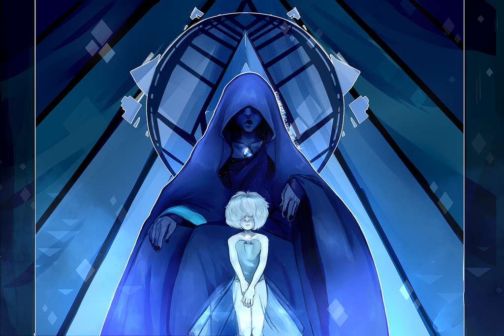 Blue Diamond and her very emo pearl THEY ARE RUINING MY LIFE FUCK