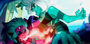 SU-Alexandrite vs Malachite [speedpaint]