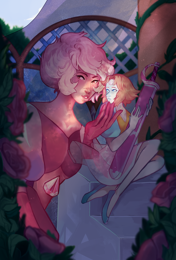 :^) a little late posting buuuuttt HEY  I AM REALLY PROUD OF HOW THIS TURNED OUT!!!!!!!!!! FUCK PINK DIAMOND THO MY PEARL DESERVES BETTER. speedpaint 🌺 💎 🌟
