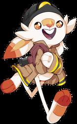 Scorbunny as a Fire-Fighter // Speedpaint by KitsuneZakuro