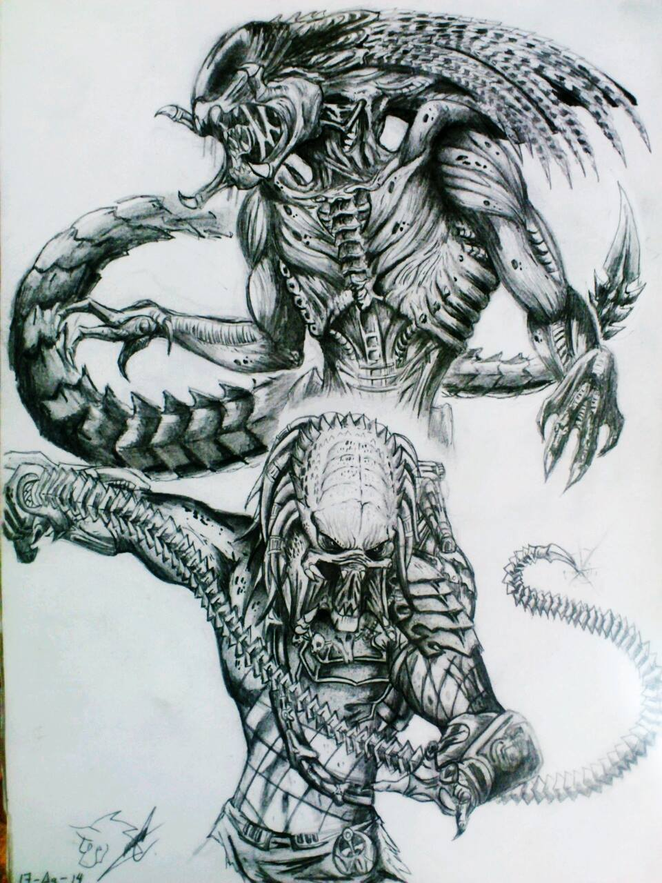 Predalien vs Predator wolf by AnubisKronos on DeviantArt