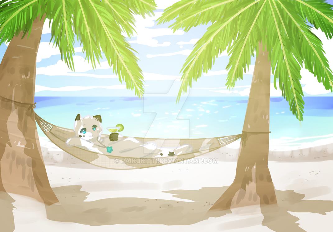 beachside hammock by raikukitti on deviantart  rh   raikukitti deviantart
