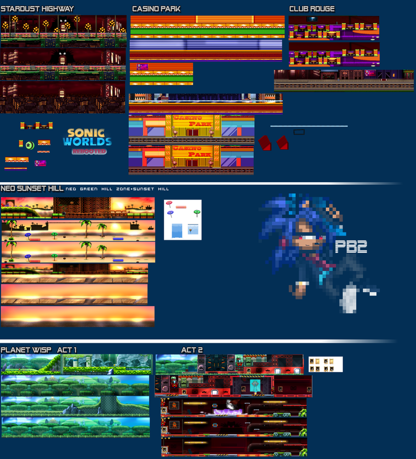 Sonic Worlds Rebooted Pack 1 by parrishbroadnax
