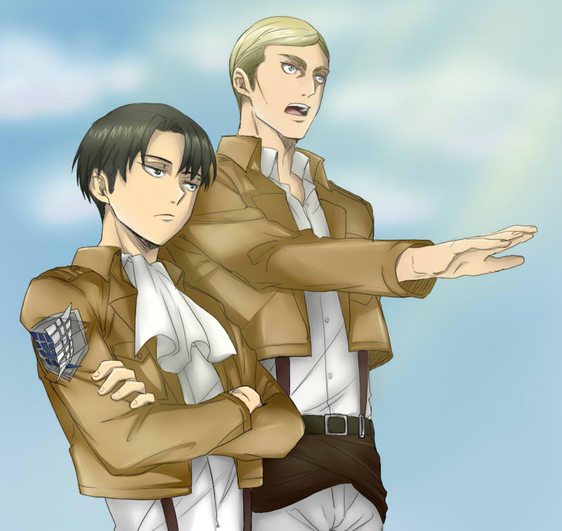 Levi and Erwin (Attack on Titan) by Hikari-Creation