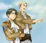 Levi and Erwin (Attack on Titan)