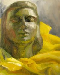 study: still life bronze head by cloudsfall