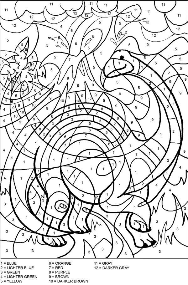 Colouring Pages For School Age : Colour by numbers/letters on Pinterest Color By Numbers, Preschool Worksheets and Hidden Pictures