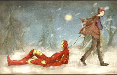-Through the snow- by FiestaTB