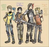 TeamFreeWill + Gabe cosplaying... Borderlands 2! by FiestaTB