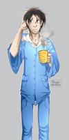 Castiel in pajamas by FiestaTB