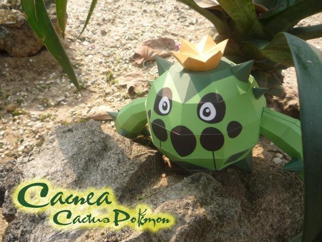 Cacnea - Cactus pokemon by Toshikun