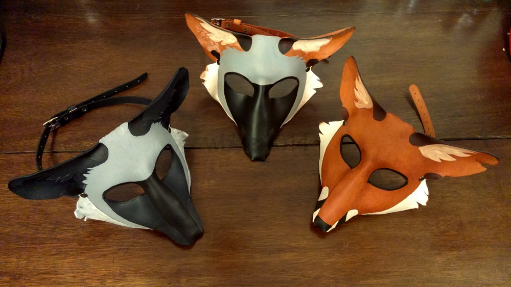 Leather Fox Masks (For Sale) by wylieblais