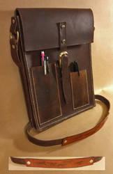 Leather bag for tablet and sketchbook