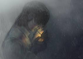 In the rain by Rami-fon-Verg