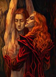 Maedhros and Sauron by Rami-fon-Verg