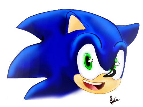 ~Sonic Face Colored~ by Lubie-Lu