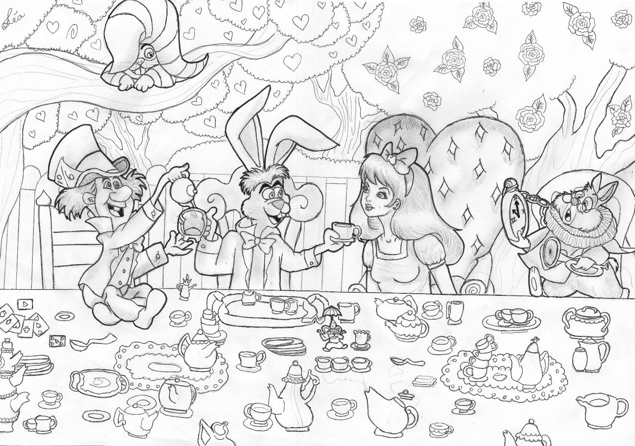 Alice and some familiar friends by Lubie-Lu