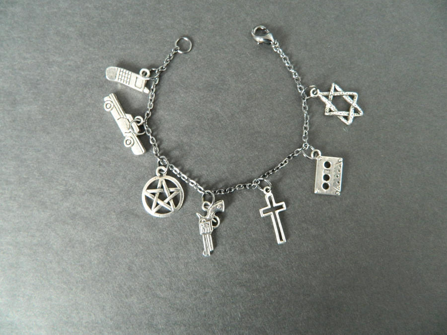 supernatural charm bracelet by mj on deviantart