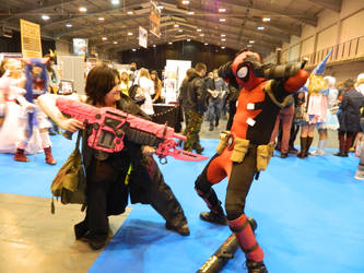 MCM Telford 2014 - Stranded Vs Deadpool by MJ-Cosplay