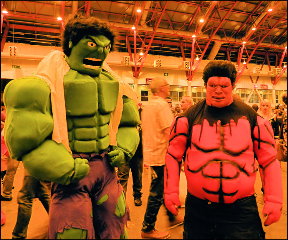 Red and Green Hulk by MJ-Cosplay