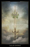 Ace of Swords by ThelemaDreamsArt