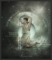 Zodiac Aquarius by ThelemaDreamsArt