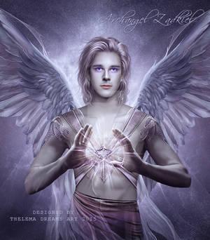 Archangel Zadkiel by ThelemaDreamsArt