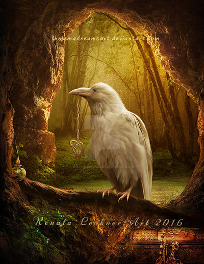 White Raven by ThelemaDreamsArt