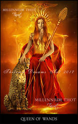 Queen of Wands MILLENNIUM THOT Tarot by ThelemaDreamsArt
