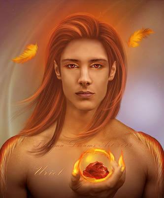 Archangel Uriel by ThelemaDreamsArt