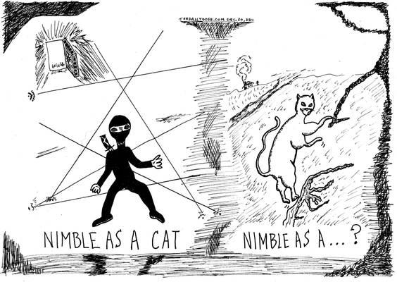 nimble as a cat cartoon