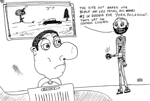 Why Web Servers Crash editorial cartoon