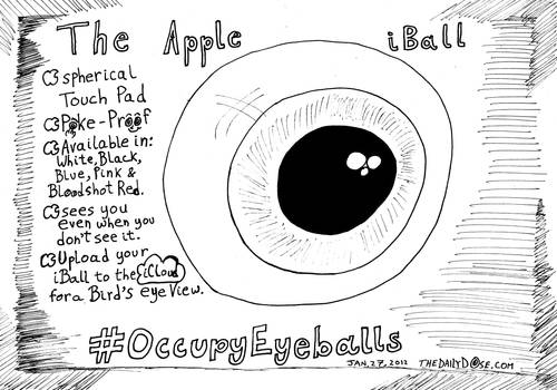 The Apple iBall editorial cartoon