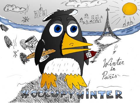 occupy winter editorial cartoon