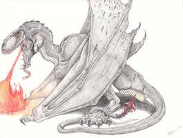 Obsidian Dragon by Raptor-dude